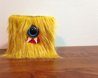 Golden Frost Cyclops Monster Wallet- One Blue Eye