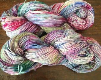 Merino hand dyed yarn, superwash sock yarn , 400 yards, 'Otherland'