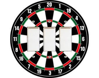 Darts Dartboard Triple Decora Rocker Switch Plate Cover