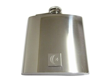 Engraved Islam Flag 6 oz. Stainless Steel Flask