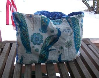 Einkaufstasche Französisch Pfauen wiederverwenden Tasche sofort lieferbar einkaufen Tote