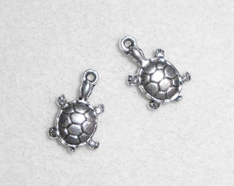 Silver Land Box Turtle Charms