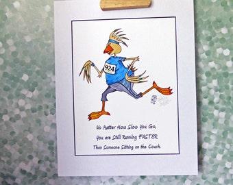 Coureur Motivation Art Print femmes Encouragement Inspiration à mat aller courir être sain 11 x 14