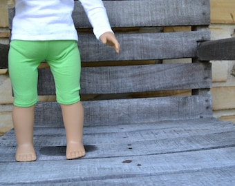 18 inch Doll Clothes - Neon Green Leggings - Every Day Essentials - fits American Girl