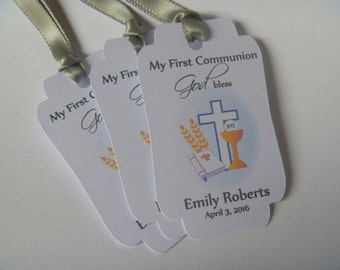 First communion tags,first communion favors,first communion for boys,first communion for girls,Holy first communion