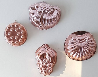 Copper Jello Mold et of 4 by Wear-Ever