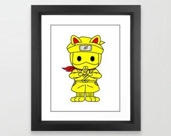 Lead to good luck Japan's Maneki-neko(Beckoning cat) Ninjnyatai (Ninja troop) to make a good matc luck up Kiimaru, a hand seal.
