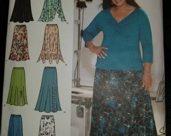 Free Shipping Khaliah Ali collection Simplicity Pattern 4670 Size 18W, 20W, 22W, 24W  Skirt Pattern length and style variations New Uncut FF