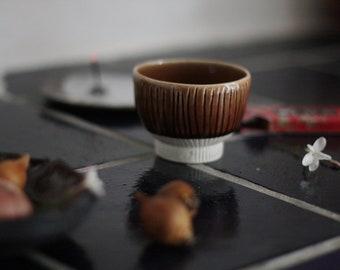 Brown porcelain bowl