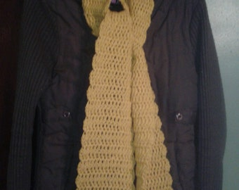 Golden Sunflower Crochet Scarf