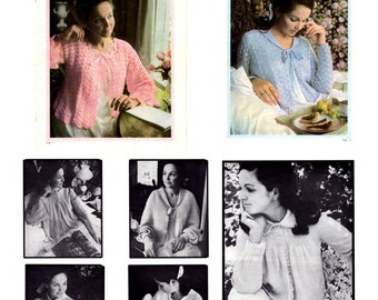 ebook vintage , Paton's #861 Bedjacket knitting and crochet patterns in PDF instant download version