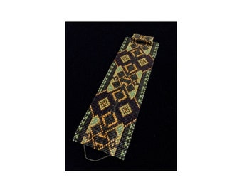 Ethnic Flair #2 Cuff Bracelet - Loom Bead Pattern