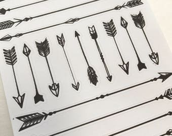 A112 - Black Arrows - Planner Stickers