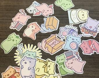 Mitchiri Neko cat stickers Series 1