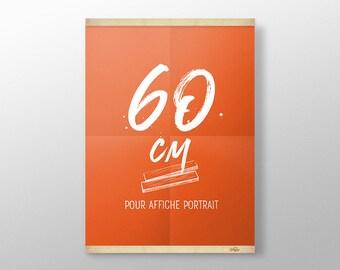 Grip Poster 60 cm | Porte affiche en bois, Cadre sérigraphie, Cadre poster, Kit affiche suspendue, Cadre photo, Cintre affiche film