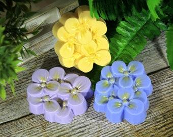 Wildflowers soap, Flower soap, Handmade soap, Wedding favor, Custom Colored soap, Spring flowers gift, Shower gift for her, Premium soap