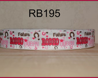 Future Rodeo Queen ribbon, Cowgirl / 5yds / size 7/8 / rodeo ribbon / cowgirl ribbon / pink rodeo ribbon / 22mm
