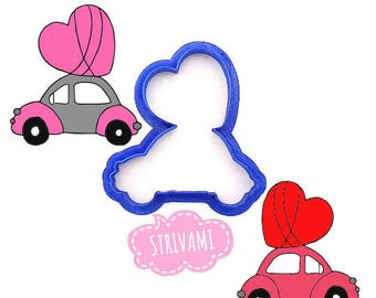 Car cookie cutter, Car with heart cookie cutter,Party Cookie Cutter,Wedding car cookie cutter,Wedding cookie cutter