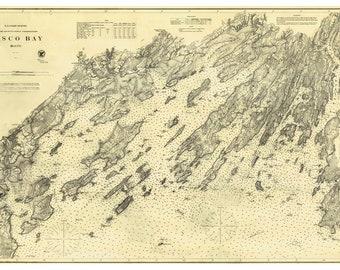 The Islands of Casco Bay, Maine, USGS Chart, 1870