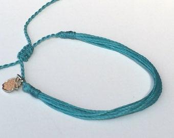 Aqua Friendship Bracelets, Charity Jewelry