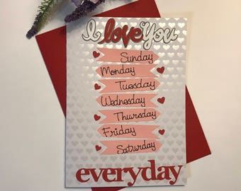 I Love You Everyday Card