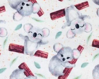 New! Koala White custom Cotton lycra knit fabric