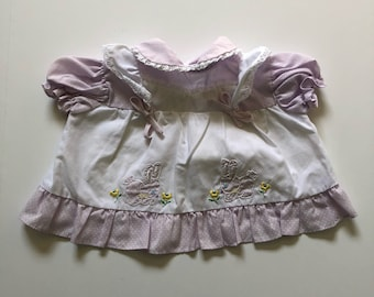 1980's Lavender Bunny Dress (0/3 months)