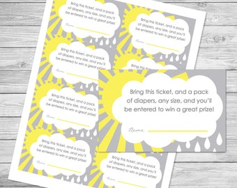 You Are My Sunshine Baby Shower Diaper Raffle - INSTANT Direct Download