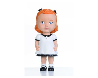 Red Hair Girl Inspired by Vintage Style Original Collectible Doll Original Design