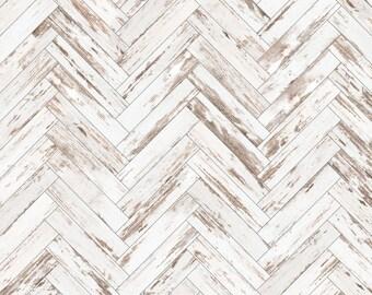 Wooden Herringbone Removable Wallpaper