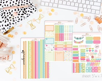 Poolside HORIZONTAL Weekly Kit // 130+ Matte Planner Stickers // Perfect for your Erin Condren Life Planner // WKH0300