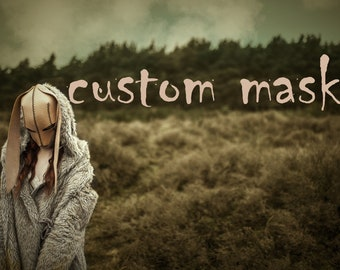 Custom Mask // Dark Fairytale mask in cuystom style and color, made to measure.