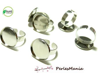 10 blank ring superior silver plate 18mm ref 27976