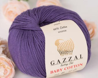 Gazzal baby Cotton, cotton yarn, Knitting Yarn, crochet yarn, baby yarn, yarn, hypoallergenic yarn, gazzal, gazzal baby yarn