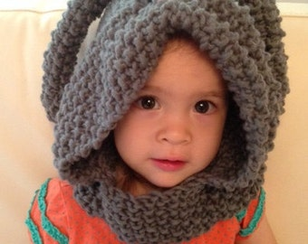 Bunny Cowl Hat