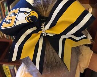 Custom Mascot Cheer School Team  Hairbow  by FunBows !!