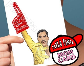 Funny Mother Day   Freddie Mercury   Mothers Day Card Queen  Bohemian Rhapsody For Mom Mothers Day Gift Mothers Day Funny Mothers Day Unique