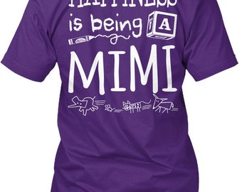 Happiness Is Being A Mimi Hanes Tagless Tee Tshirt