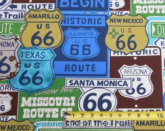 Historische Route 66 Fett große State Street Signs von Werften Alexander Henry Stoff