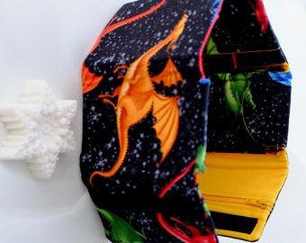 Dragon Fire and Ice Wallet Yellow with Winter Snowflake Soap
