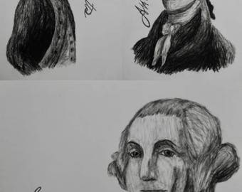 "Hamilton Charcoal/Graphite Notecard Set of 30 - 5.5""x4"""