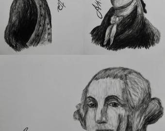 "Hamilton Charcoal/Graphite Notecard Set of 30 - 5.5""x4"""