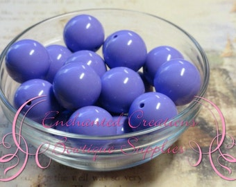 16mm Lavender Solid Acylic Beads Qty 14