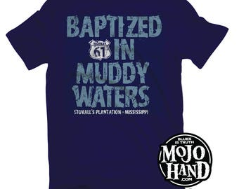 Muddy Waters Delta Blues  MEDIUM t-shirt from mojohand.com - Blues music gifts - Mississippi Guitar tee