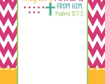 Personalized Note Pad ~ Teacher Gift ~ Religious Gift ~ Christmas Gift ~ Teacher Appreciation