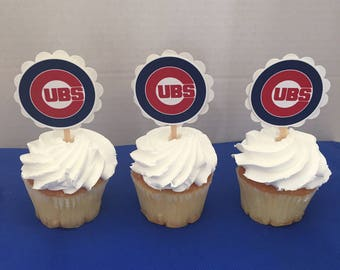 Chicago Cubs  Cupcake Toppers