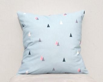 Sky blue triangle pillow cover, Decorative Pillow Case, Kids Pillows Case,