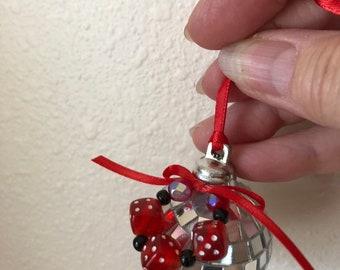 Disco Ball Bunco Ornament