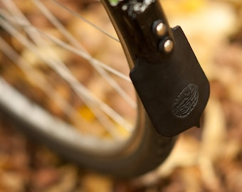 Leather Mud Flaps for Bicycle Fenders