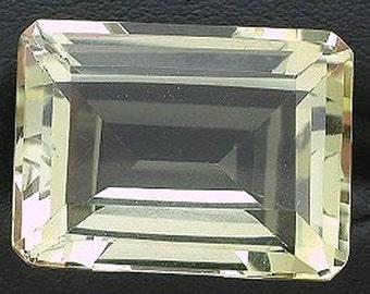 16x12  emerald cut brazilian yellow citrine gem stone